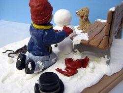 Travis Building a Snowman 4