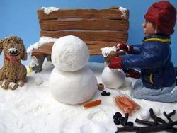 Travis Building a Snowman 6