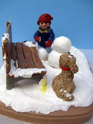 Travis Building a Snowman 9