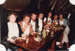 Donated by Pat Broadway. 2nd left = Flo Cook, 4th left Pat B. 7th left Liz Allen (?) - can anyone name the rest please ?