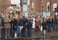 Anti BT Privatisation Picket, Gate 3 F/L 1984 -Donated by Jim Wood.