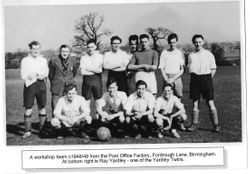 Workshop Football Team 1948/9