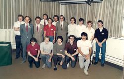 The Class of Sept. 1983. Donated by David Law.
