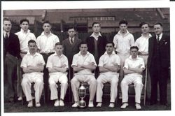 Post Office Stores Cricket Eleven - 194? - Sent by Syd Brinsdon