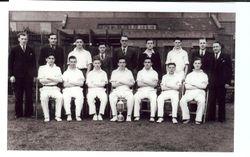 Post OfficeStores Cricket Eleven - 194?- Sent by Syd Brinsdon