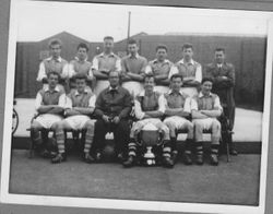 Post Office Stores Football Team 1956 - sent in by Bert Hunt.