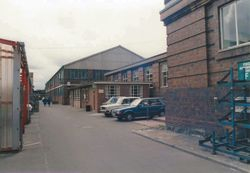 Health Centre with K. Block at rear and F. Block on Right.