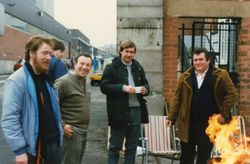Keeping warm on the Picket Lines F/L 1984