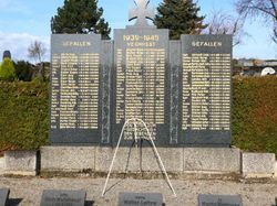 German Soldiers Memorial Behind Duhren Church