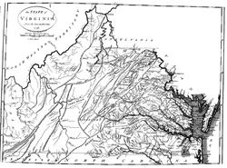 Map of Virginia in 1790 Census Book