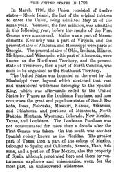 Description of US in 1790