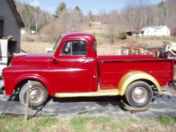 Old Red Pickup Truck