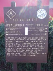 You are on the Appalachian Trail