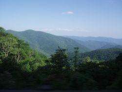 On our way to Mt Mitchel, NC