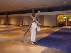 Jesus walks alone