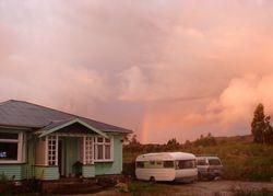 Farm house sunset