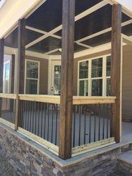 Cary, NC Screened Porch Rail and framing.