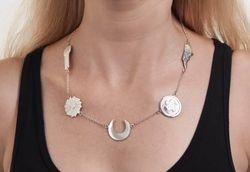 Kaminer wearing her award winning necklace