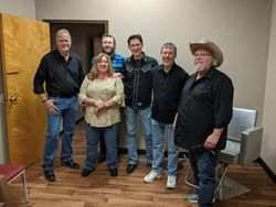 Backstage at The Midnight Jamboree with Ron Williams. Max T. Barnes hangin with us