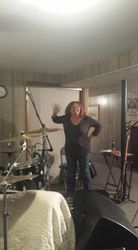 Colleen in the studio