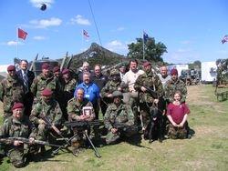 Gearge martin & 5  brigade re-enactors