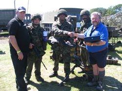 5  brigade re-enactors, Joe & Mac