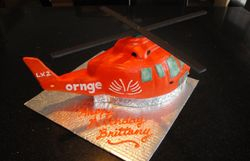3D Helicopter Birthday cake