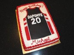 Raptors Jersey Birthday cake