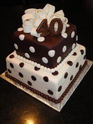 40th Birthday 2 tiered Present Cake