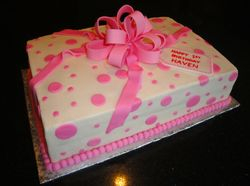 1st Birthday Present Cake for Haven