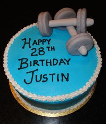28th Birthday  with a fitness theme
