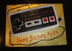 3D Nintendo Controller Birthday Cake