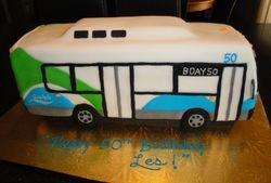 50th Birthday - 3D City Bus Cake