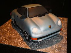 Prosche 911 3D Car Cake