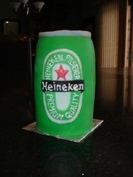 3D Heineken Can Birthday Cake