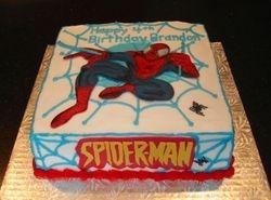 Spider-Man Theme Cake