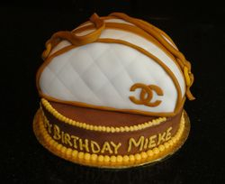 Chanel Purse 3D Cake