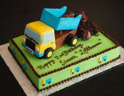 Dump Truck 2nd Birthday Cake for Shawn