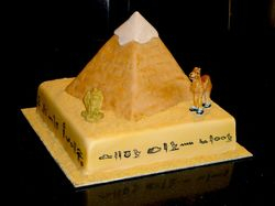 Great Pyramid of Giza 3D Cake