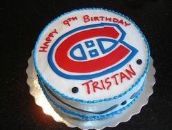 Montreal Canadiens Theme Birthday Cake