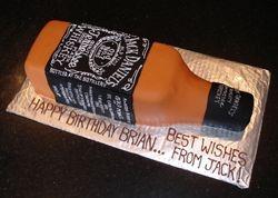 3D Jack Daniels Bottle Cake
