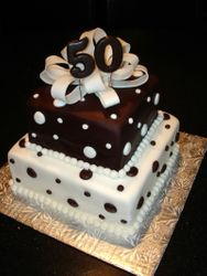 50th Birthday Celebration Cake