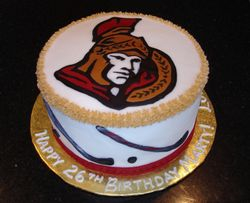 Ottawa Senators Theme Birthday Cake