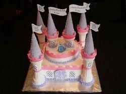 Princess Castle Cake for Katie