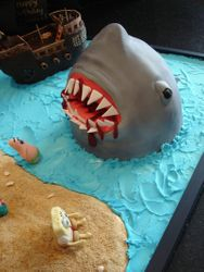 3D Shark Attack on SpongeBob & Friends