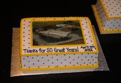 Wellington County Celebrating 50 Years Cake