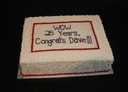 25 Year Anniversary Cake