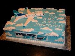 West Jet Celebration Cake