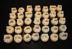 Construction Vehicle Themed Cupcakes