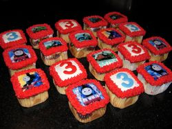 Square Thomas & Friends Cupcakes